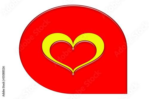 Serce dla zakochanej pary