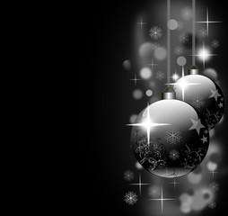 Weihnachten - Weihnachtskugeln in schwarz