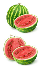 Watermelons isolated on white