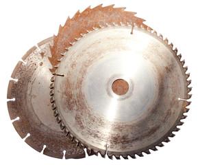 Three Rusted Circular Saw Blades