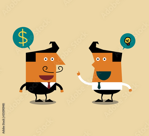 Businessman talking about business,  Illustration eps10