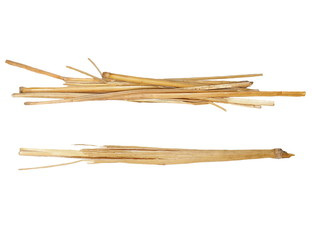 pile straw isolated on white, (with clipping path)