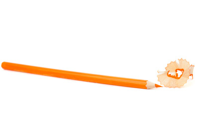 orange pencil shavings