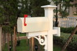 retro white mailbox
