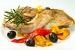 coniglio al forno con peperoni e olive