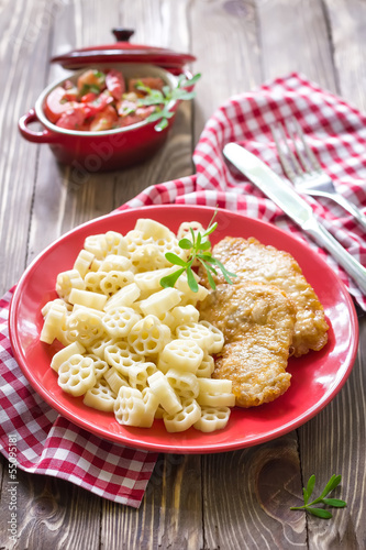 Pasta and fish