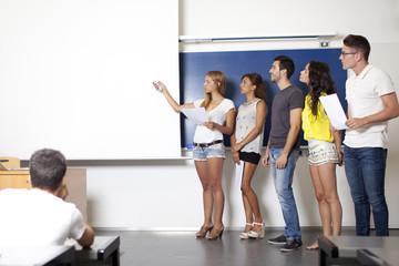 Präsentation von Studenten