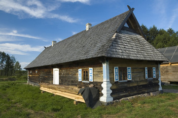Wooden cottage house