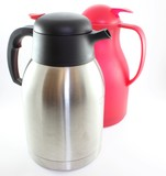 Metal and Red Thermos