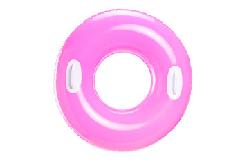 Stufio shot of a pink swimming ring