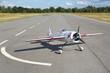 canvas print picture - Avion blanc modèle réduit