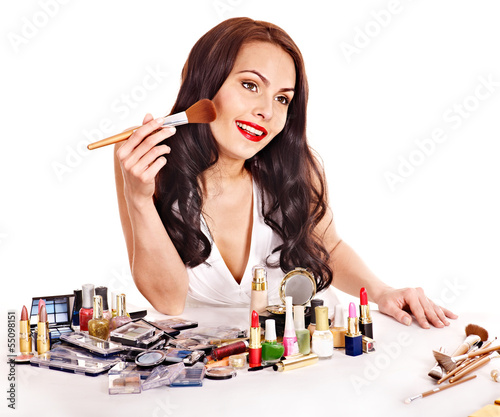 Fototapeten,mädchen,frau,cosmetic,makeup