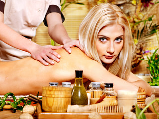 Woman getting  massage .