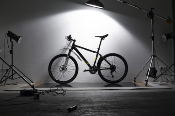 bike on shooting in studio