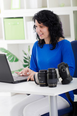 professional photographer working from home
