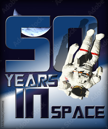space adventure celebration poster vector illustration