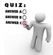 Quiz Multiple Choice Choosing Best Answer Test