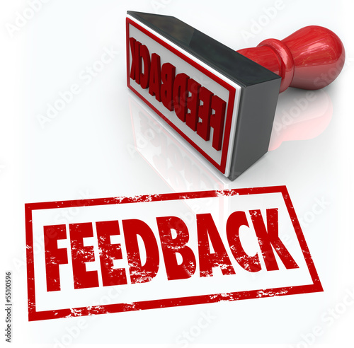 Feeback Stamp Word Approval Opinion Comment Review