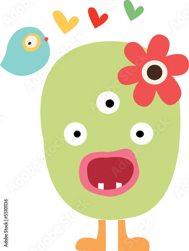 illustration of a monster face on a white background