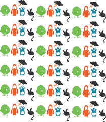 Illustration of a monster seamless pattern