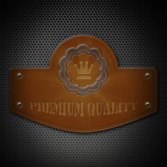 Leder Plakette - Premium Quality