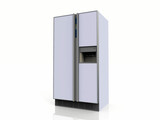 American fridge on white background