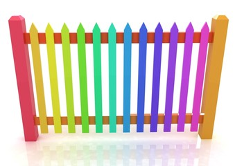 Colorfull glossy fence