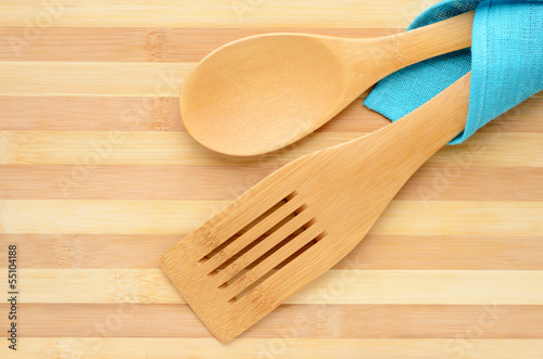 Wooden spatula and spoon