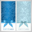 Gift certificate, gift card, Coupon template. Robbon, bow