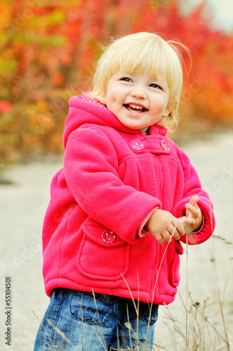 laughing toddler