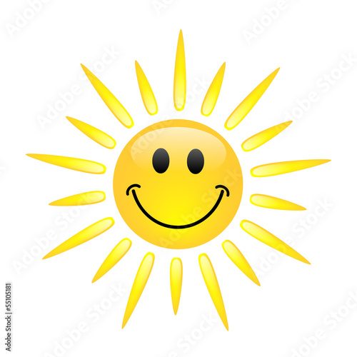 Sun Icon (sunny spells clouds weather forecast smily icons)