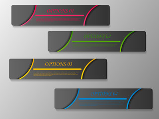 Set colorful banners
