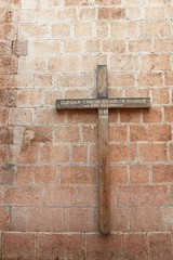 Cross on Church of Holy Cross in Vodice