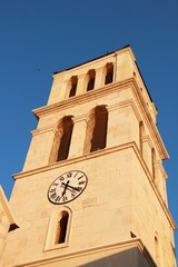 Belfry on Church Holy Cross in Vodice