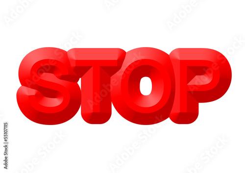 kırmızı stop yazısı