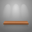 Wooden empty shelf