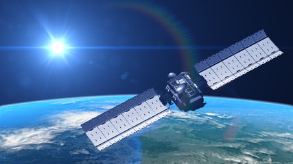 satellite in orbit