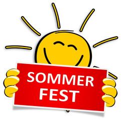 Sonne Schild Sommerfest