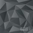 Dark grey background abstract polygon triangle style. Vector