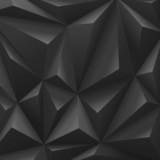 Black carbon background abstract polygon. Fashion luxury - 55108994