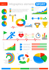 Sport Infographics. Statistics, analytics for business, finance