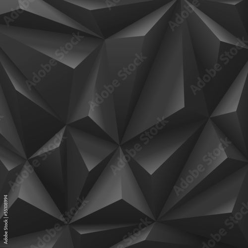 Black carbon background abstract polygon. Fashion luxury