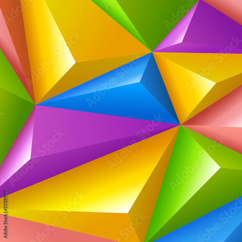 Colorful polygons triangle shapes vector Background Abstract - 55108998