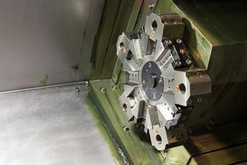 Turret lathing machine