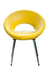 Modern style leather chair isolated.