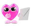 3d Heart gets a message