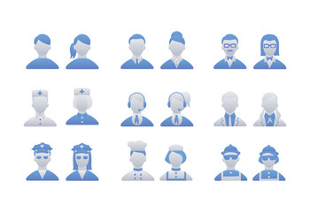 People Icon: Occupations set