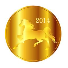 午 馬 メダル 金