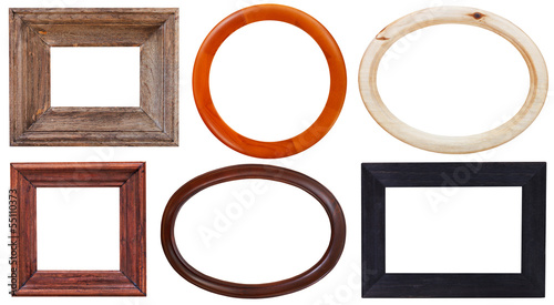set of wooden picture frame