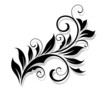 Floral design element in a refined style